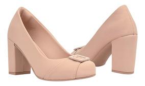 Sapato Scarpin Feminino Confort Salto Alto Grosso Festa R1