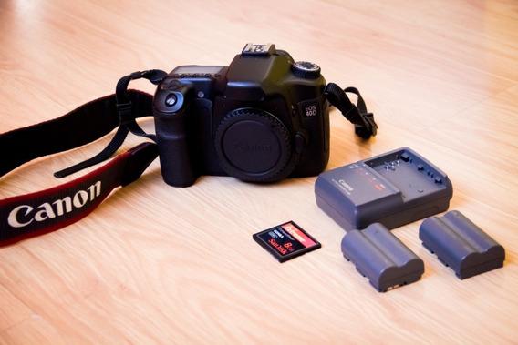 Câmera Canon 40d Corpo+carregador+2baterias+cartão Cf