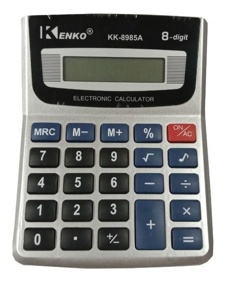 Calculadora Kenko 8985a 8 Digitos A Pila Display Full
