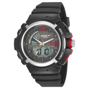Relógio Speedo 11007g0evnp1 Pulso Digital Preto E Vermelho