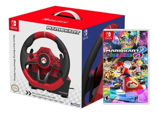 Volante Nintendo Switch Mario Kart Pro Deluxe + Mario Kart