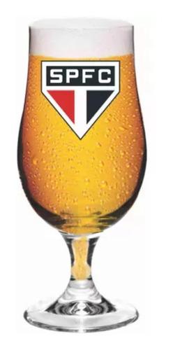 Taça De Cerveja São Paulo Tricolor Vidro 380ml Oficial
