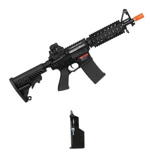 Rifle Airsoft M4a1 Cqb A.p.s Blowback 6mm + Speed Loader
