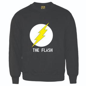 Suéter Básico Logo The Flash Dama Y Caballero 8 Colores