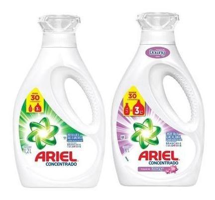 Sabão Líq. Ariel 1,2l + Sabão Líq. Toque De Downy 1,2l