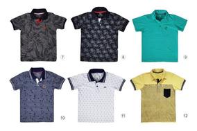 Kit De 5 Camisa Gola Polo Infantil Masculina Camiseta Menino