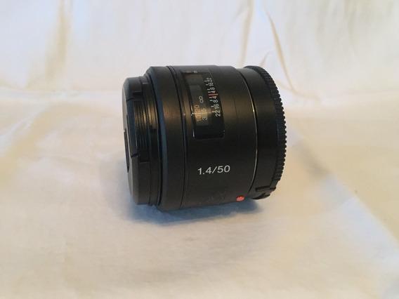 Lente Sony 50 Mm 1.4 Para Camara Fotografica Sony Alpha