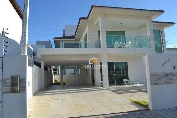 Casa Com 4 Dormitórios À Venda, 374 M² Por R$ 1.150.000,00 - Intermares - Cabedelo/pb - Ca0005
