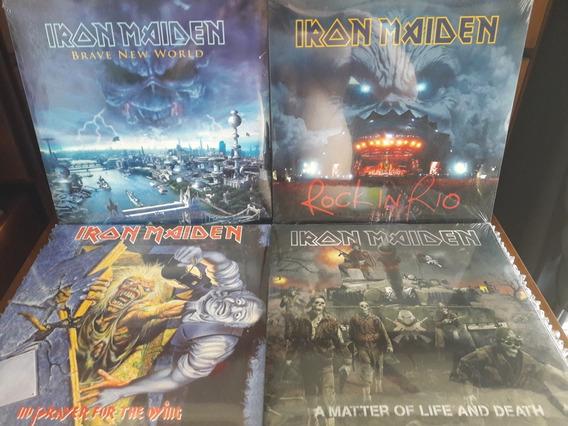 Iron Maiden Lp Vinil 180g Amolad Rocks Brave Matter Rio Dyin