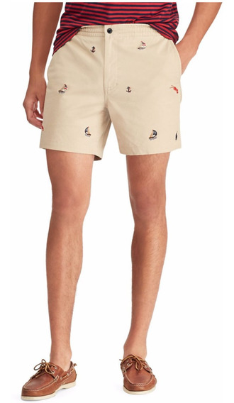 Shorts Algodon Stretch Boats All Over Polo R Lauren (20%off)