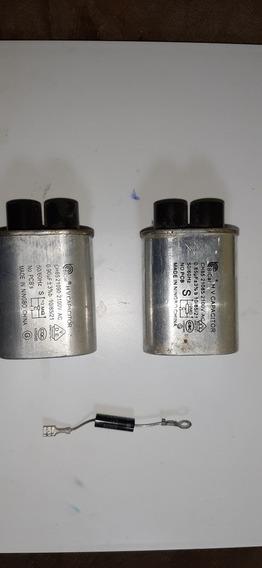 Kit 2 Capacitor De Micro Ondas E 1 Diodo