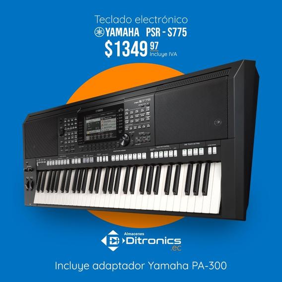 Teclado Yamaha Psr-s775, Adaptador Pa300