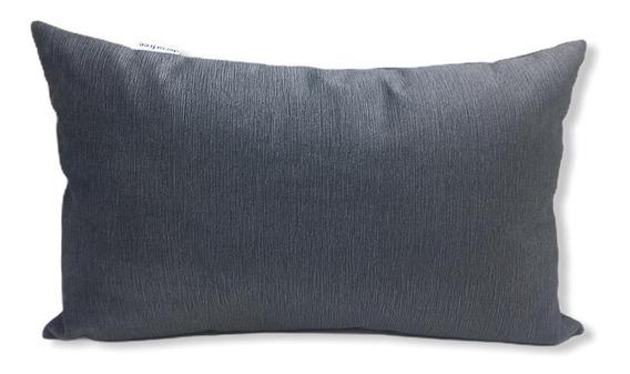 Almofada Decorativa Quebra Rim Azul Com Enchimento 40cmx25cm