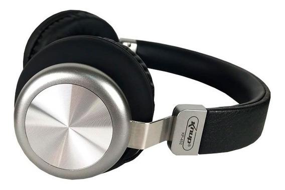 Fone De Ouvido Bluetooth Cartão Sd P2 Arco Metálico Kp-452