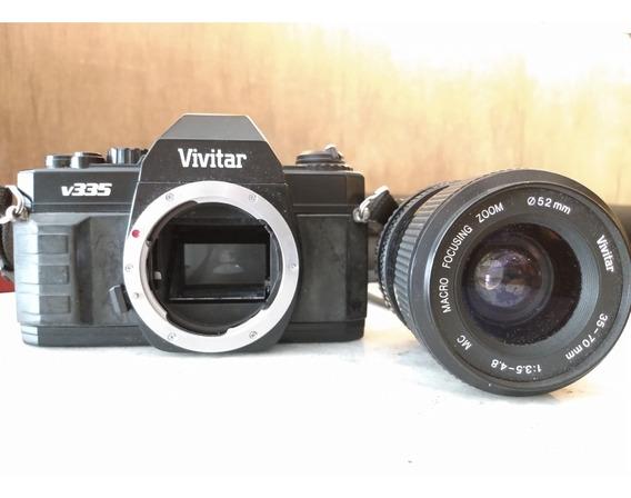Câmera Fotográfica 35mm Analógica Vivitar V335 + Lente 35-70