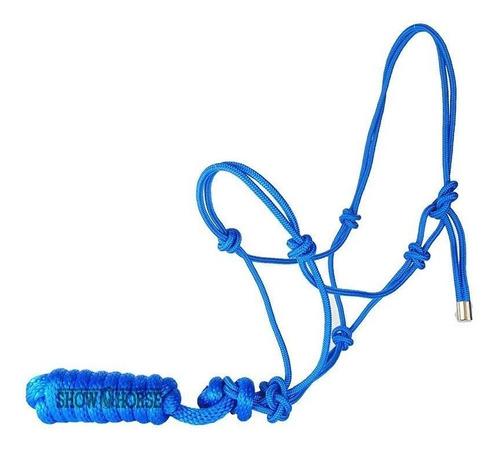 Imagem 1 de 1 de Cabresto Para Cavalo De Corda Azul Importado