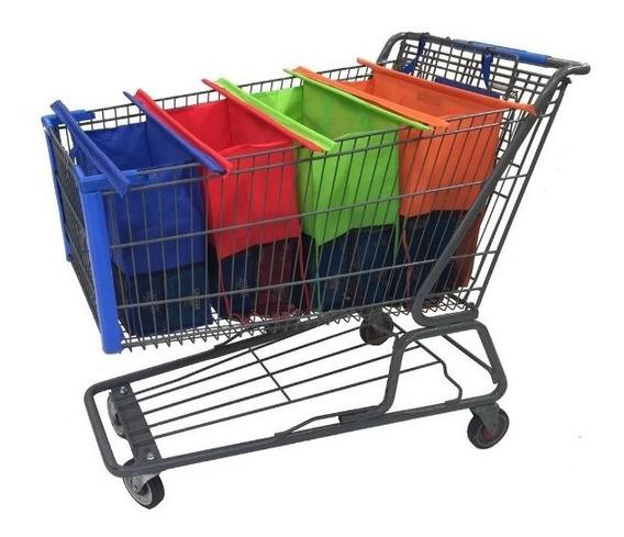 Carrito De Super Bolsas Ecológicas (4pack)