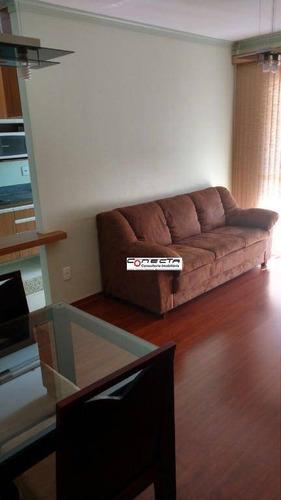 Imagem 1 de 6 de Apartamento Com 2 Dormitórios Para Alugar, 48 M² Por R$ 2.800,00/mês - Cambuí - Campinas/sp - Ap0235