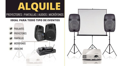Alquile Proyector Parlantes Audio Consola Videojuego