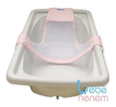 Rede Proteção Para Banho De Banheira Rosa Bebê Neném