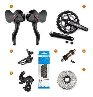 Kit Transmissão Sti Shimano Bike Speed Tourney A070 2x7