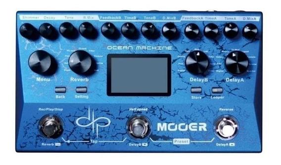 Pedaleira Mooer Ocean Machine - Reverb, Looper, Delay