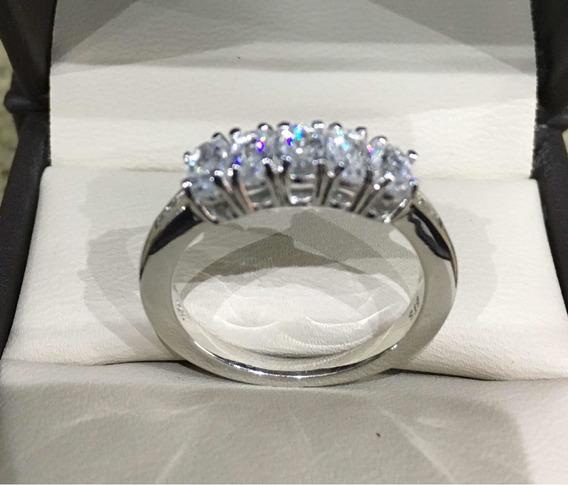 Anillo De Plata Circonio Natural Y Diamantes 1.75ct Talla 8