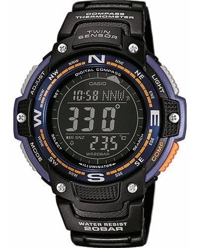 Reloj Casio Sgw-100-2b Brújula Digital, Termómetro. Sj