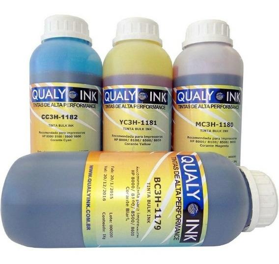 Tinta Corante Qualy Ink Para Hp 8000/ 8100/ 8500/ 8600