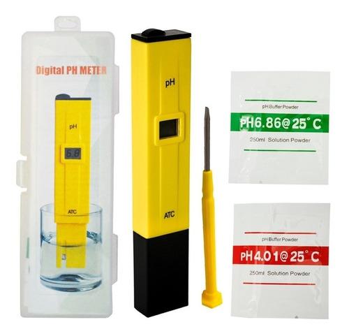 Imagen 1 de 5 de Medidor De Ph Digital Medidor Phmetro Liquido + Buffers