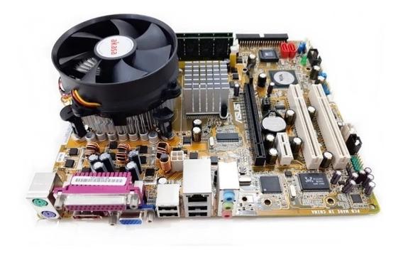 Kit Placa Mãe Asus P5vd2-vm + Core 2 Duo + 2gb + Cooler