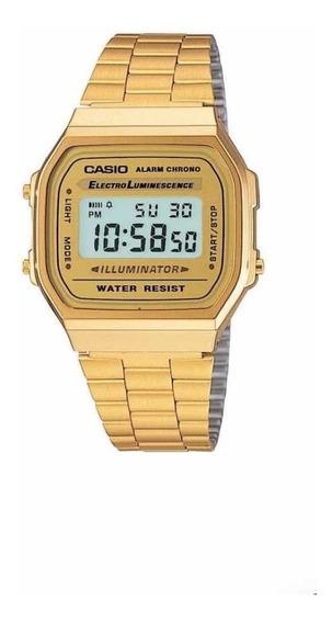 Relógio Casio Unissex Dourado Vintage Retrô