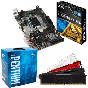Kit Proc. G4560+mb Msi H110m Ddr4 Pro-vh+8gb 2400mhz Hyperx