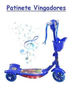 Patinete Cesta Brinquedo Menino Vingadores ! Promoção!