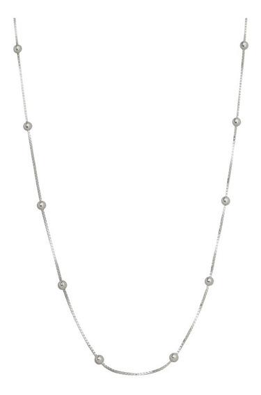 Corrente Bolinha Prata 925 40cm Preço De Fábrica