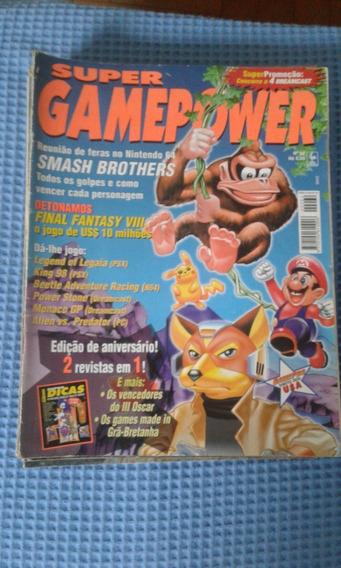 Lote De Revistas Gamers Super Game Power Ação Games Raridade