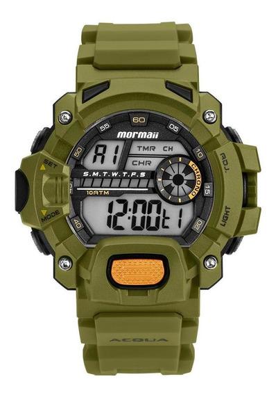 Relógio Masculino Mormaii Mozm1132/8v 54mm Borracha Verde