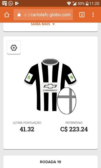 Conta Cartola Free 2018 C$ 223.24 (cartoletas) - 18º Rodada