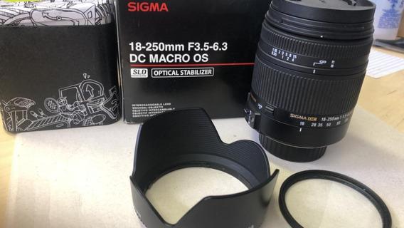 Lente Sigma 18-250 F.35-6.3 Macroos Estabilizador Para Nikon