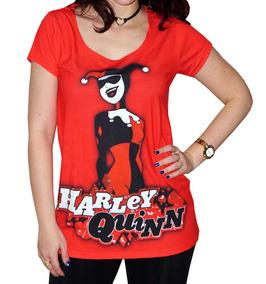 Blusa Soltinha Arlequina Harley Quinn - Quadrinho Dc Comic