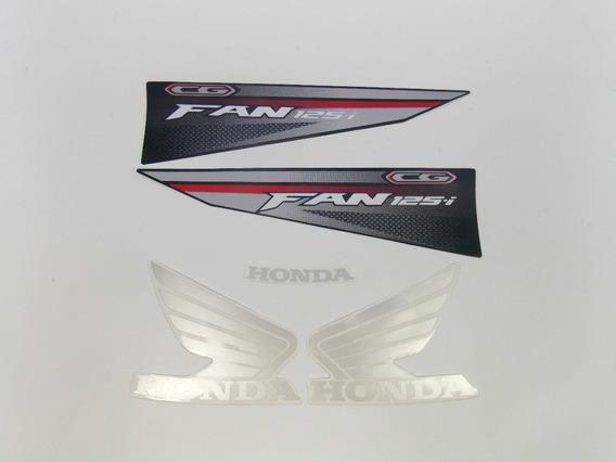 Kit Adesivo Moto Cg Fan 125 2016 Vermelha 10556