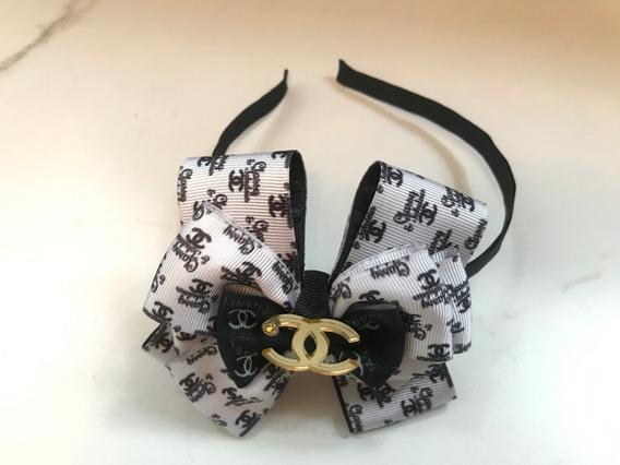 Tiara Laço Boutique Para Meninas Inspirado Em Grife Chanel