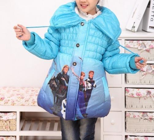 Jaqueta Menina Infantil Casaco Blusa Frio Sobretudo Frozen