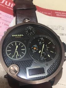 Relógio Diesel Dz 7246 Marrom Couro