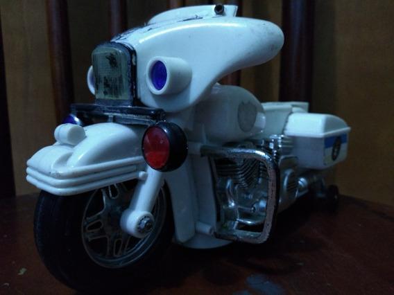 Moto De Polícia De Brinquedo/antiga/brinquedo/miniatura