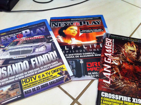 Lote Revistas Gamer Next To Play Lan Gamer Vol 1 E 2+ Extras