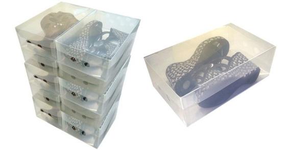 Caixa Transparentes Para Sapatos Femininos ( Kit 10 Un. )