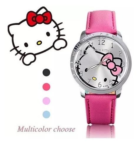 Relógio Desenho Hello Kitty P/ Meninas Cor Rosa