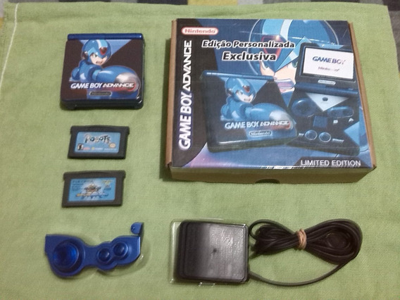 Gba Sp Ags001 - Gameboy Advance Sp - Personalizado Megaman