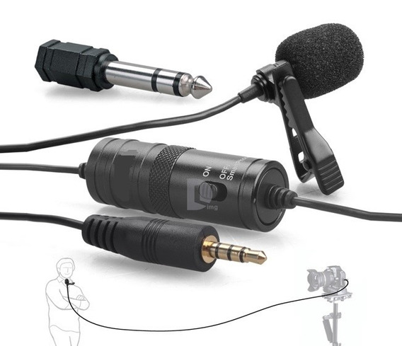 Microfone Lapela Pcelular Youtuber Entrevista Gk-lm1- 6m Fio